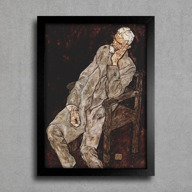 Egon Schiele - Portrait of an Old Man Johann Harms - comprar online