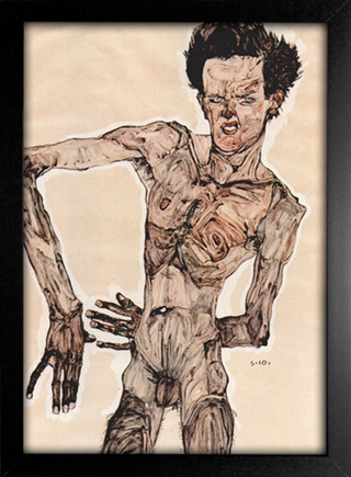 Egon Schiele - Self-Portrait IV