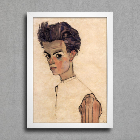 Egon Schiele - Self-Portrait VII