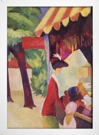Imagem do August Macke - In Front of the Hat Shop - Woman With Red Jacket and Child