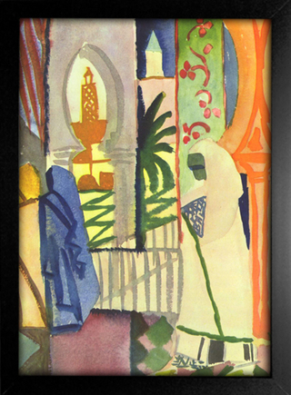 August Macke - In The Temple Hall - loja online