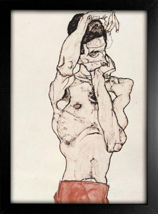 Imagem do Egon Schiele - Standing Male Nude With a Red Loincloth