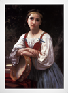 Bouguereau - Gypsy Girl With a Basqued Drum - loja online