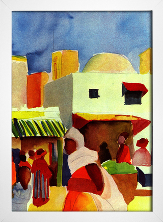 Imagem do August Macke - Market in Algiers