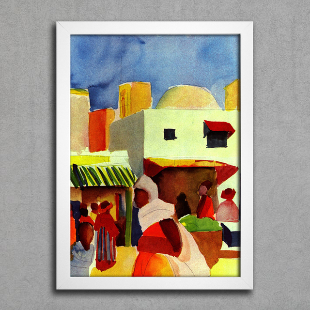 August Macke - Market in Algiers na internet