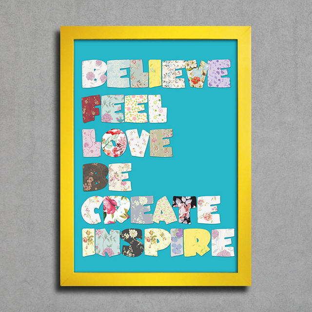 Poster Believe Feel Love Be Create Inspire - loja online