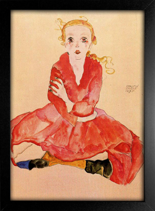 Egon Schiele - Seated Girl Facing Front - comprar online