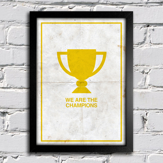 Poster Queen - We are The Champions || na internet