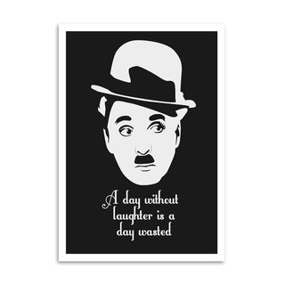 Poster Citação Charlie Chaplin - A day without laughter is a day wasted - comprar online