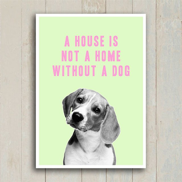 Poster A house is not a home without a dog