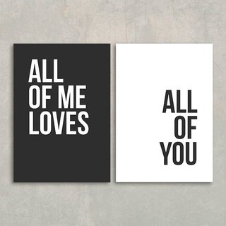 Kit All of me - preto e branco na internet