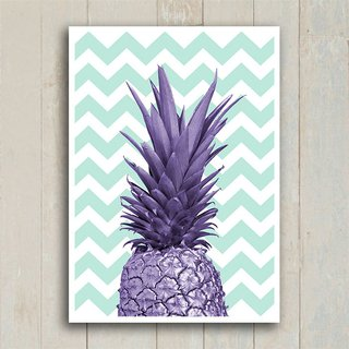 Poster Purple Pineapple - Encadreé Posters
