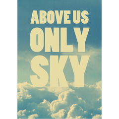 Imagem do Poster Beatles Above Us Only Sky