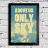 poster beatles imagine -above us only sky