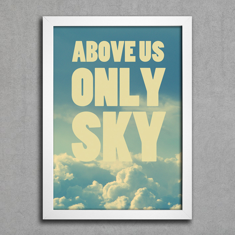 Poster Beatles Above Us Only Sky