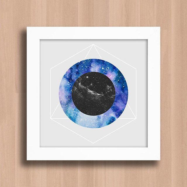 Quadro Abstract Galaxy Circles na internet