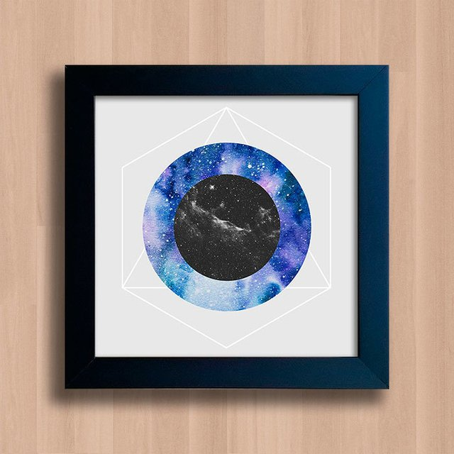Quadro Abstract Galaxy Circles - comprar online