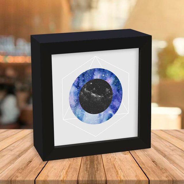 Quadro Box Abstract Galaxy Circles