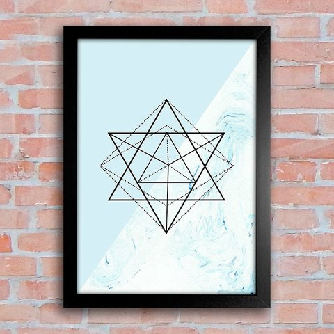 Poster Geometric Form Blue