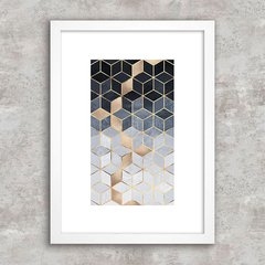 Poster Abstract Geometric Blue I - comprar online