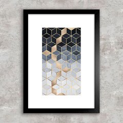 Poster Abstract Geometric Blue I