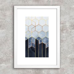 Poster Abstract Geometric Blue II - comprar online