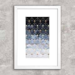 Poster Abstract Geometric Blue III - comprar online