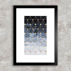 Poster Abstract Geometric Blue III
