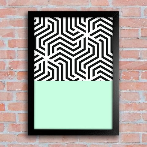 Poster Abstract Green - comprar online