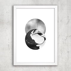 Poster Abstract Grey - comprar online