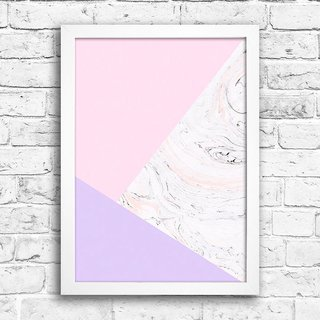 Poster Abstract Pink Marble na internet