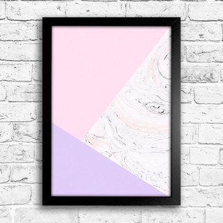 Poster Abstract Pink Marble - comprar online