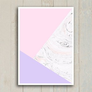 Poster Abstract Pink Marble - Encadreé Posters