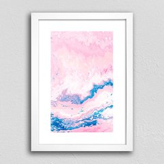 Poster Abstract Pink & Blue