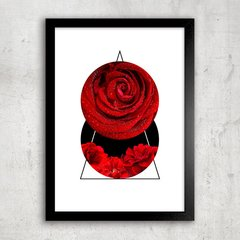 Poster Abstract Red Rose I