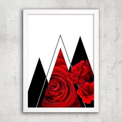 Poster Abstract Red Rose II - comprar online