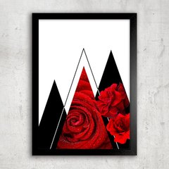 Poster Abstract Red Rose II