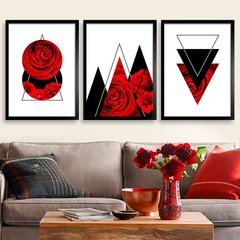 Kit Abstract Red Rose