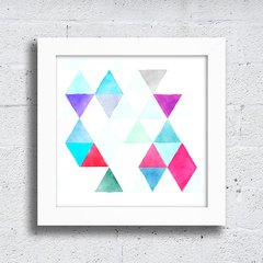 Quadro Abstract Triangle Fragments na internet