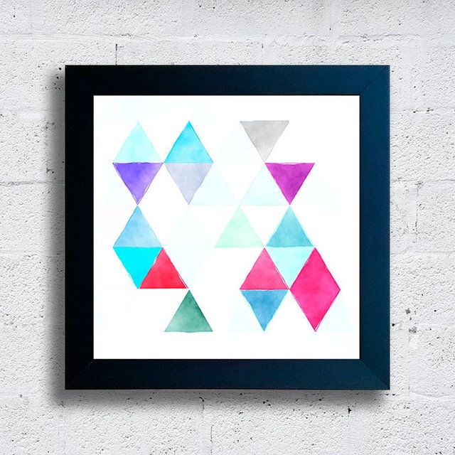 Quadro Abstract Triangle Fragments - comprar online