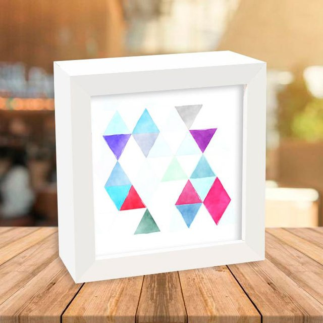 Quadro Box Abstract Triangle Fragments - comprar online