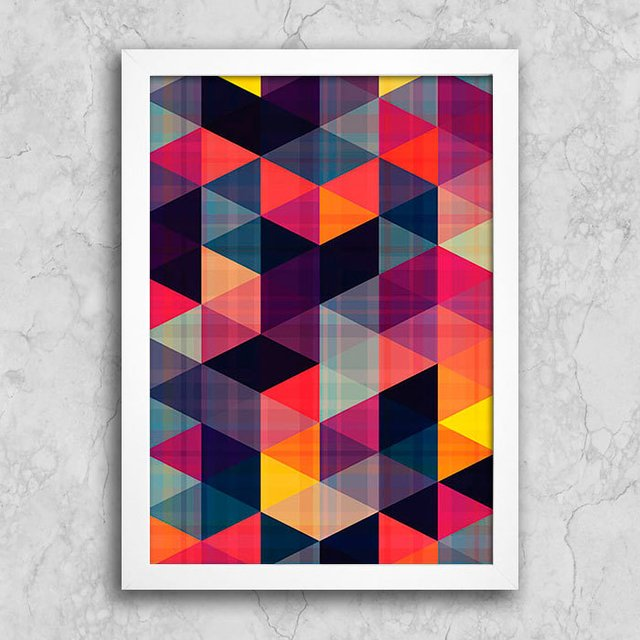 Poster Abstract Triangles II - Encadreé Posters