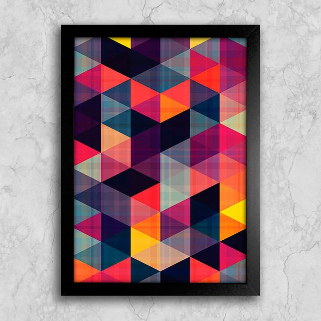 Poster Abstract Triangles II na internet