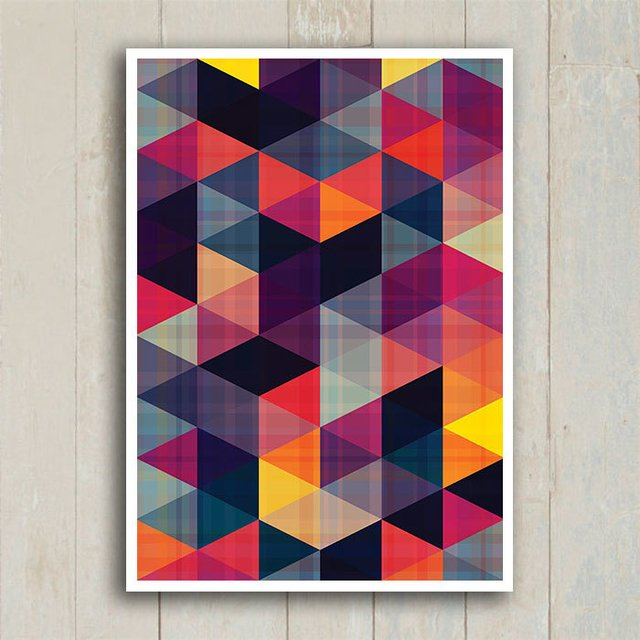 Poster Abstract Triangles II - loja online