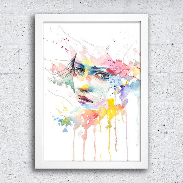 Poster Abstract Watercolor - Encadreé Posters