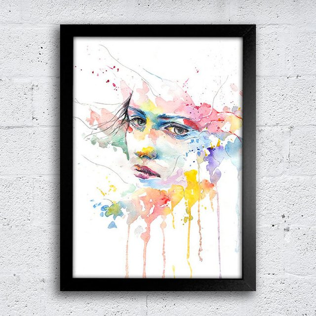 Poster Abstract Watercolor na internet