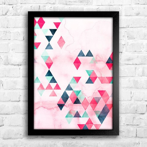 Poster Watercolor Triangles - comprar online