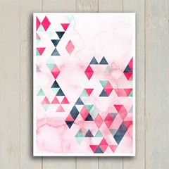 Poster Watercolor Triangles - loja online