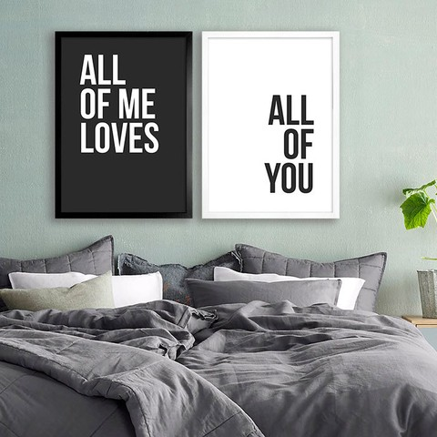 Kit All of me - preto e branco - comprar online