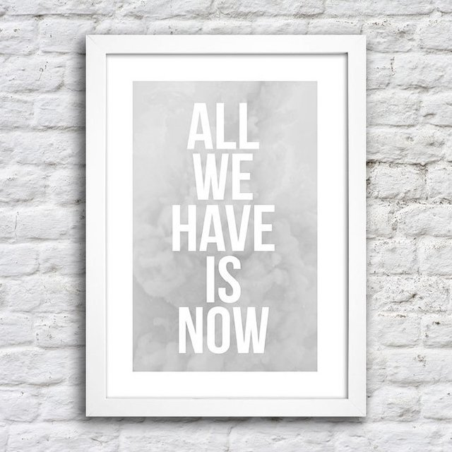 Poster All we have is now - Cinza na internet